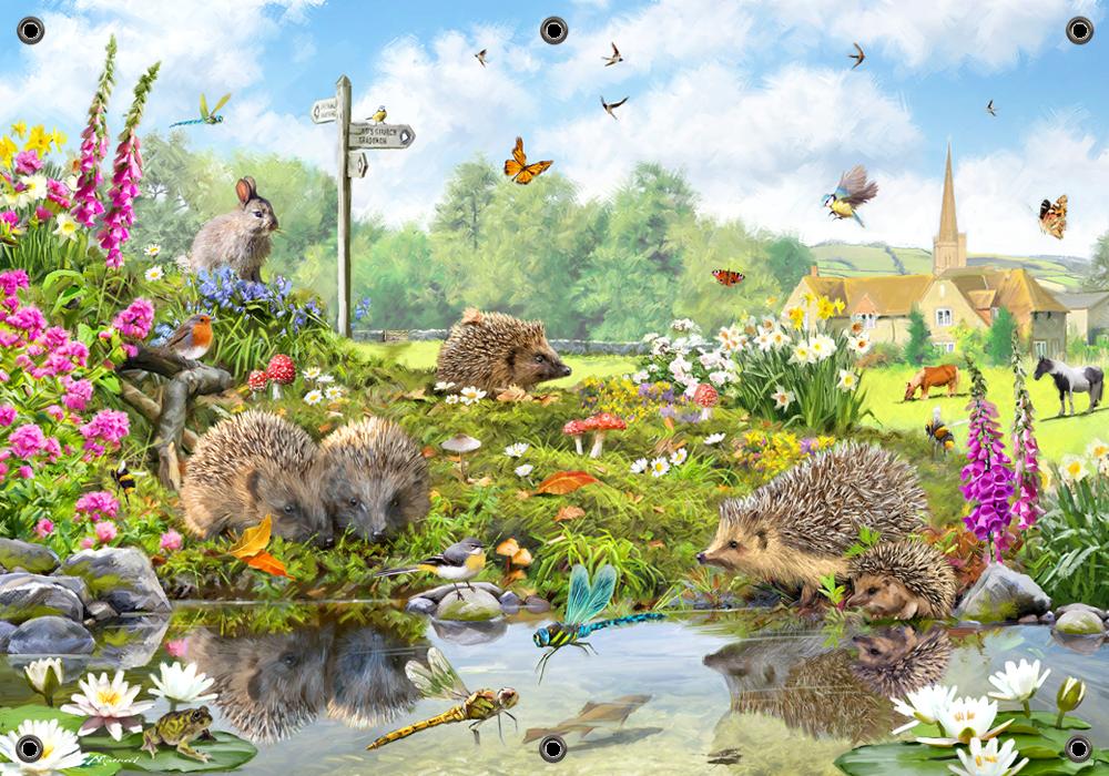 Tuinposter dieren plezier 70x100