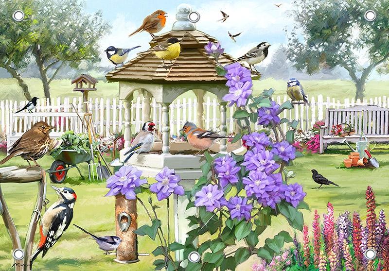 Tuinposter vogelhuisje 70x100