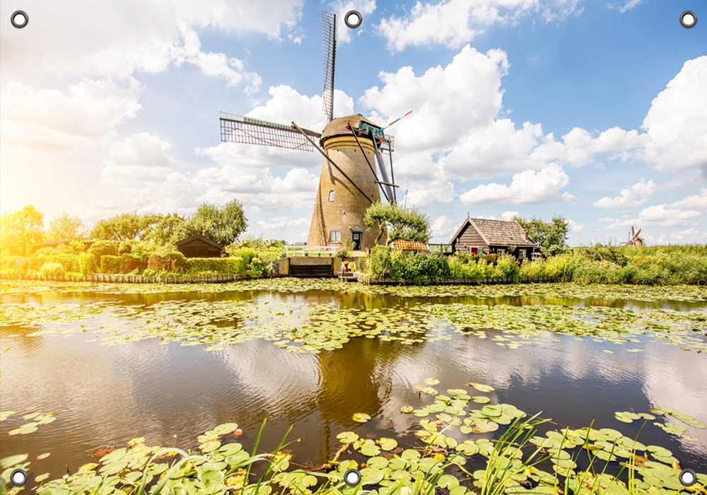 Tuinposter Nederlands landschap 70x100