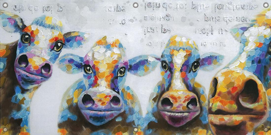 Tuinposter koeien 70x140