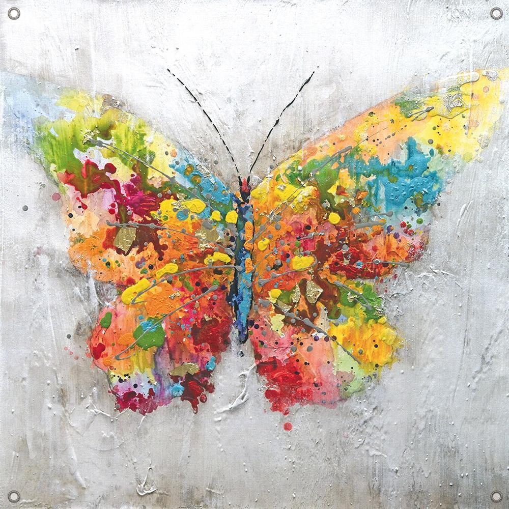 Tuinposter vlinder 80x80