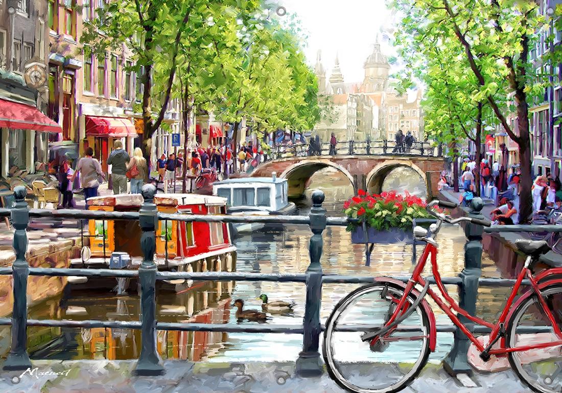 Tuinposter Amsterdam 70x100