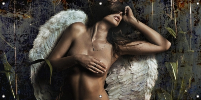 Tuinposter Angel in the dark 70x140