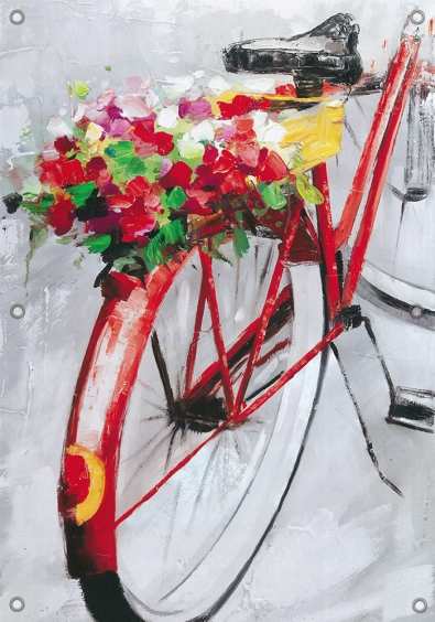 Tuinposter fiets 70x100