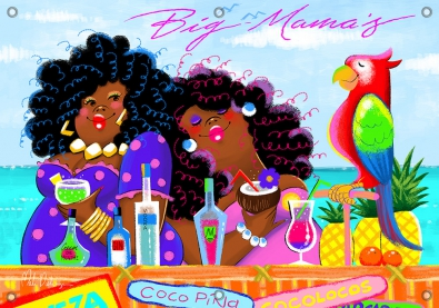 Tuinposter Big mama's Beach Bar 70x100
