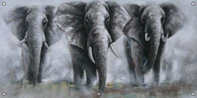 Tuinposter olifanten 70x140