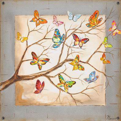 Tuinposter vlinders 80x80