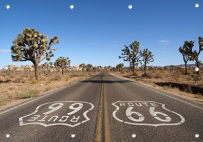 Tuinposter route 66 GROOT 110x155