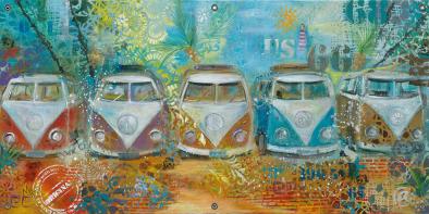 Tuinposter VW Bus 70x140