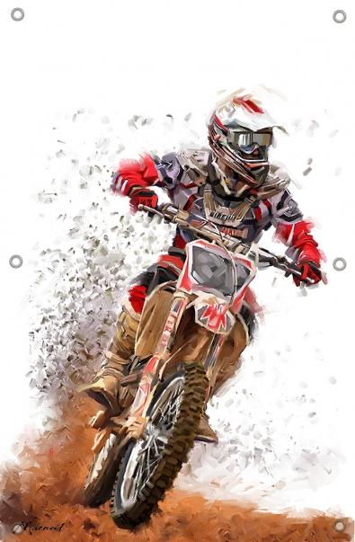 Tuinposter motorcross 70x100